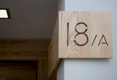 Simple interior directory sign