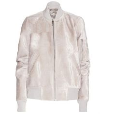 Rick Owens Flight Bomber Jacket ($880) ❤ liked on Polyvore featuring outerwear, jackets, bomber jacket, coats & jackets, coats, grey, grey jacket, blouson jacket, flight jacket and gray bomber jacket