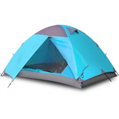 Vicona 2 Person Double Layer Camping Tent - Waterproof Lightweight Backpacking Tent for Camping with Carry Bag (Blue) Camping Canopy, Camping Cot, Best Tents For Camping, Cool Tents, Camping Gear, Outdoor Camping, Outdoor Gear, Family Camping, Best Backpacking Tent