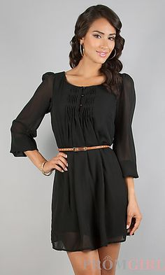 Short Black Casual Dress at PromGirl.com