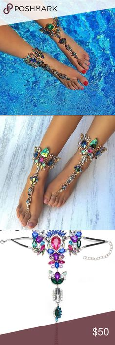 """""""Statement Piece"""" Anklet This piece is Gorgeous! You will look like a million bucks walking around the pool! Pictures do not do the beauty of this piece justice. It is ridiculously beautiful in person!Brand for exposure acacia swimwear Dresses Mini"""