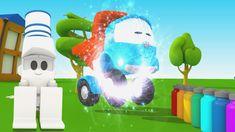 Cartoni animati: Camioncino Leo Junior dipinge Lifty il carrello elevatore