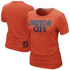 Nike Detroit Tigers Ladies Motor City 2013 Local Premium T-Shirt - Orange