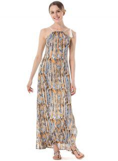 Spaghetti Strap Sleeveless Side Slit Maxi Dress