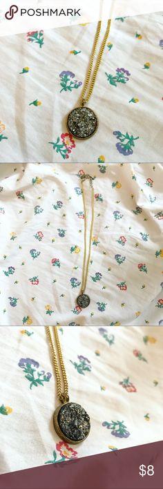 Gray Druzy Necklace Druzy statement necklace Jewelry Necklaces
