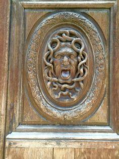 Old door in the streets of Paris