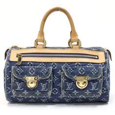 Louis Vuitton Blue Monogram Denim Neo Speedy Handbag - $849.99