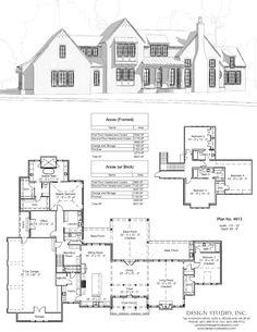 Plan #4613 | Design Studio Sims 4 House Plans, Best House Plans, Dream House Plans, House Floor Plans, My Dream Home, Dream Homes, Farmhouse Plans, Farmhouse Design, House Blueprints