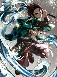'Demon Slayer / Kimetsu No Yaiba - Tanjiro' Poster by - Anime: Demon Slayer / Kimetsu No Yaiba — Character: Tanjiro Otaku Anime, Manga Anime, Fanarts Anime, Anime Demon, Anime Characters, Anime Art, Read Anime, Demon Slayer, Slayer Anime