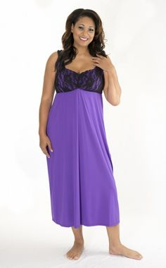 dffdae6b8a  purple  nightgown with built-in bra and lots of support. Sizes small