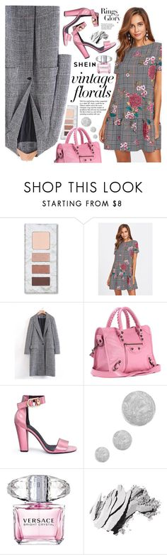 """""""Smell the Roses: Vintage Florals"""" by vanjazivadinovic ❤ liked on Polyvore featuring Balenciaga, Tiffany & Co., Stella Luna, Topshop, Versace, Bobbi Brown Cosmetics, vintage, Sheinside, stripedpants and polyvoreeditorial"""
