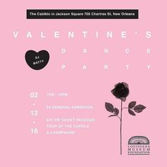 We're giving away 3 pairs of tickets for our first annual Valentine's Dance Party! Here's how to enter:  - 1. Repost this flyer with the hashtag #lmfvalentine so we see your entry!   2. 'Like' The Louisiana Museum Foundation on Facebook and follow @the_lmf on Instagram and Twitter!   3. RSVP and invite your friends to our Facebook event!   Complete these steps and you will be entered to win a pair of V.I.P. Tickets to The Louisiana Museum Foundation's Valentine's Dance Party on February…
