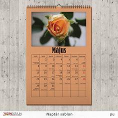 Letölthető névnapos naptársablon - május