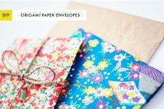 The Kipi Blog: DIY Project || #12 || Origami Paper Envelopes