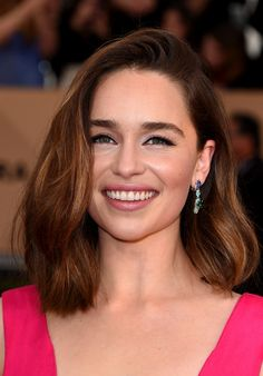 Emilia Clarke attends the 22nd Annual Screen Actors Guild Awards at The Shrine Auditorium on January 30,