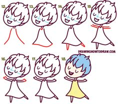 Learn How to Draw Cute Kawaii / Chibi Joy from Disney Pixar's Inside Out - Simple Steps Drawing Lesson for Kids