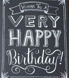 Happy Birthday Chalkboard Notecards Set of 8