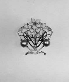 Brooch René-Jules Lalique  (French, Aÿ 1860–1945 Paris) Date: ca. 1900 Medium: Gold, enamel, diamonds, artificial pearls Dimensions: 2 1/4 x 2 1/4 in. (5.7 x 5.7 cm) Classification: Jewelry Credit Line: Bequest of Mary Kellogg Hopkins, 1941