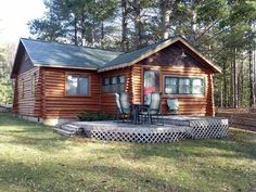 Secord Lake Log Cabin!  3449 Lakeshore Drive, Gladwin, MI