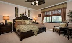 What do you think of this tropical themed master bedroom?