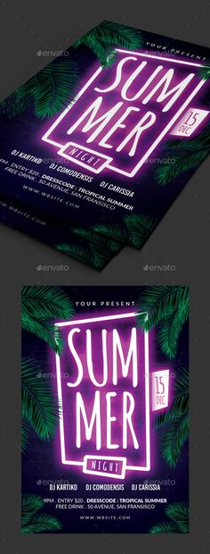 Summer Party Psd Flyer Templates Psd flyer templates, Party - party flyer