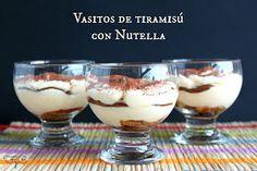 Frambuesa y Caramelo: Vasitos de tiramisú con Nutella