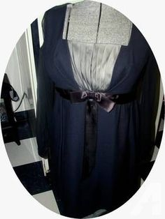 Vintage 1990's Short Black Evening Dress Size 12 Petite