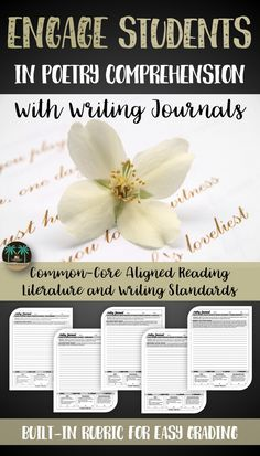 These poetry journals will help students reflect on their reading in a meaningful way. Use them as daily work, as station activities, or as homework.