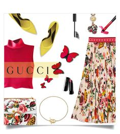 """""""Presenting the Gucci Garden Exclusive Collection: Contest Entry"""" by millilolly ❤ liked on Polyvore featuring Giorgio Armani, Gucci, Bobbi Brown Cosmetics, McQ by Alexander McQueen, Chanel and gucci"""