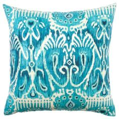 "Sumba Ikat Pillow 24"" - Aquamarine from Z Gallerie"