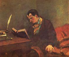 """Gustave Courbet 1848 """"Portait de Baudelaire"""""""