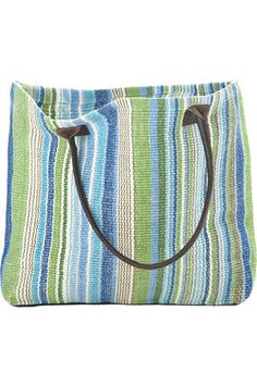 5dabbf67ef Dash and Albert  Fisher Ticking  Cotton Woven Tote Bag! A perfect Market  Tote