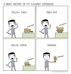 A visual history of my culinary prowess. - Poorly Drawn Lines