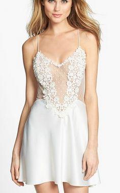 'Bridal' lace chemise #wedding @Nordstrom