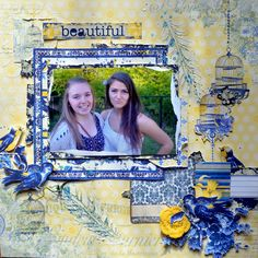 Beautiiful friends by Agnieszka Bellaidea for BoBunny featuring Genevieve collection. #BoBunny @bellaideascrap