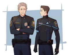 Detroit become human Connor and Hank By: like_no2_