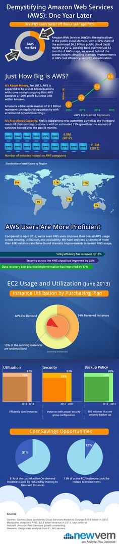 Amazon Web Services: Size, profit, distribution, and efficiency (infographic)