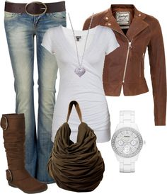 """""""Everyday Brown"""" by dori-tyson ❤ liked on Polyvore"""