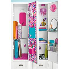 Maximize vertical space in your locker with our ingenious Janus Locker Shelf.   Two adjustable shelves provide multiple levels of storage for books, notebooks and school supplies - it even helps make room for your lunch!