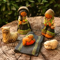 Fair Trade Small Colca Nativity — handmade in Peru — find it at http://fairandsquareimports.com/holiday/small-colca-nativity-peru — The creativity of Andean highlands artisans is evident in this Holy Family, in traditional Andean dress. It is handmade by artisans working with Intercrafts Peru, a nonprofit civic association promoting export sales of Peruvian handicrafts.