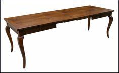Tavolo classico con piano intarsiato apribile a scatto
