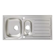 Cooke & Lewis Nakaya 1.5 Bowl Linen Finish Stainless Steel Sink & Drainer | Departments | DIY at B&Q