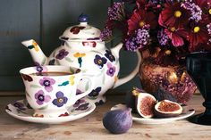 Emma Bridgewater Pottery 'Wallflower' Teapot and Mug. It is always a good time for tea! #pearhome #homedecor #orangeville