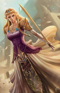 Princess Zelda 11x17 Digital Print