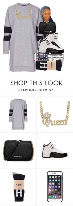 """""""Shirt Dress"""" by wateveruwant ❤ liked on Polyvore featuring Topshop, MICHAEL Michael Kors, Retrò and Black Apple"""