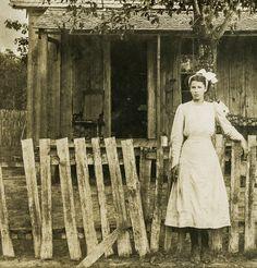 Farm girl - c. 1900 -