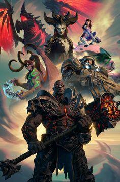 Warcraft Dota, Hulk Tattoo, Wow World, Heroes Of The Storm, Keys Art, Starcraft, Sci Fi Fantasy, Fantasy Artwork, Horror Art