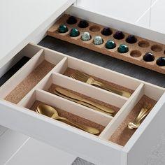 Tillbehör till Design box lådan - Bestickinlägg i kork | Ballingslöv