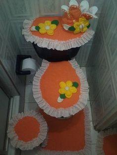 Crochet Flower Patterns, Crochet Flowers, Felt Crafts, Diy And Crafts, Bathroom Crafts, Painting Patterns, Ideas Para, Craftsman Bathroom, Doll Crafts