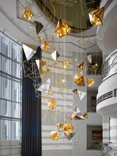 The biggest lighting installation in the Sheraton Dubai Mall of the Emirates…